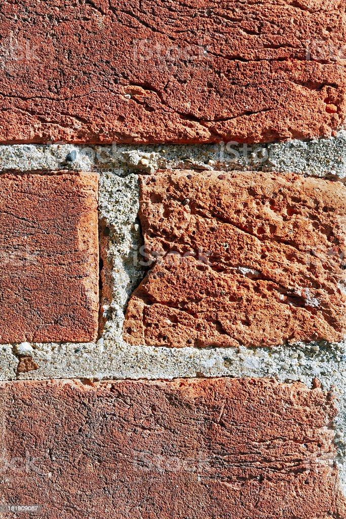 Rosso rustico mattoni primo piano foto stock royalty-free