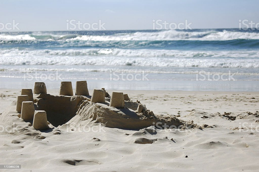 rustic sand castle royalty-free stock photo