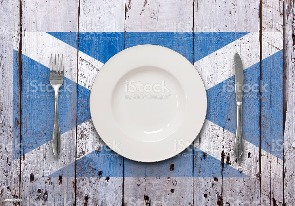 Rustic Scottish Dining stock photo