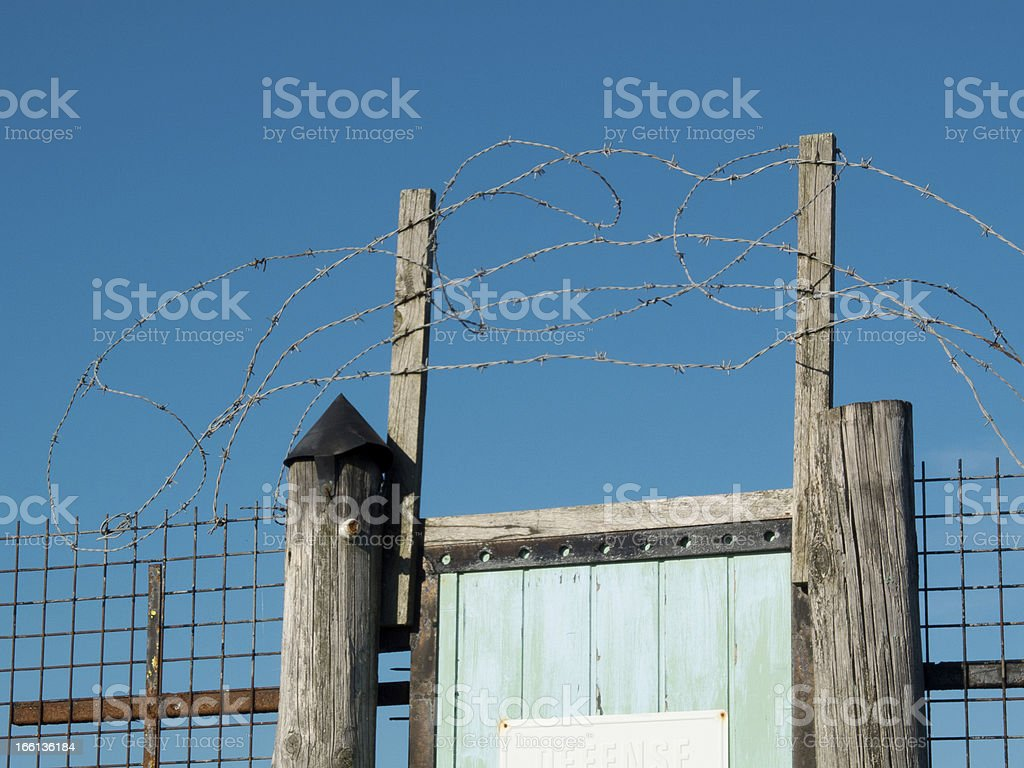 Rustic security system. royalty-free stock photo