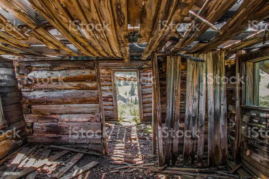Rustic Shack stock photo