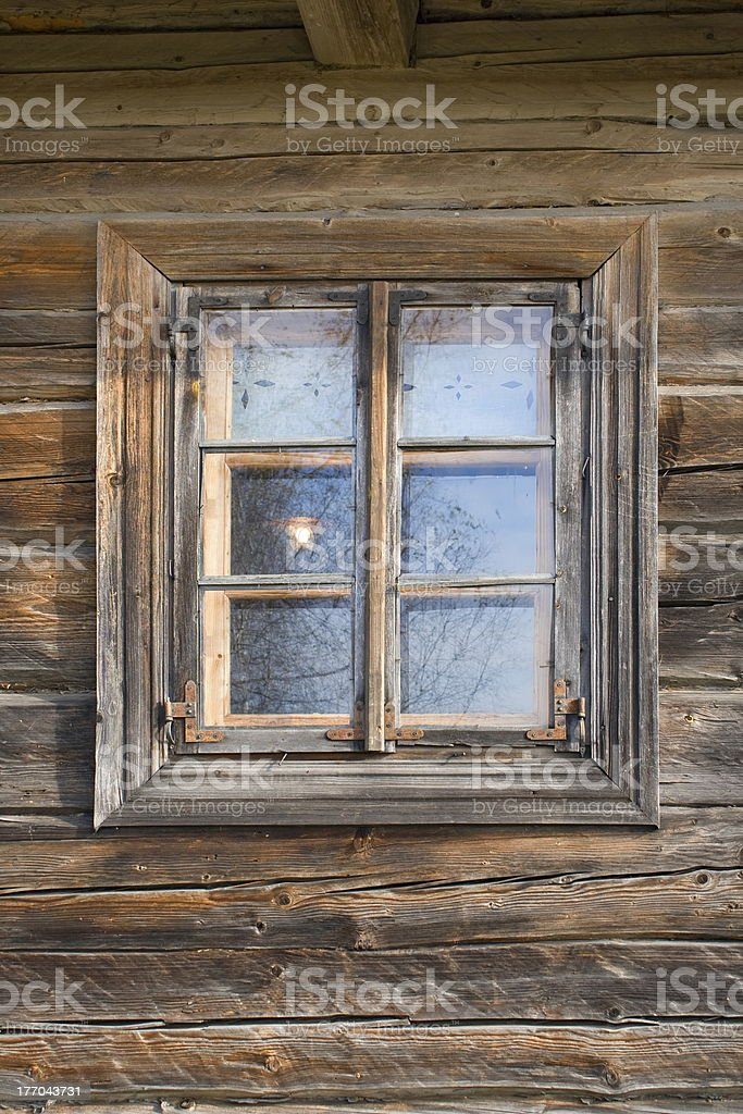 Rustic shack window. royalty-free stock photo