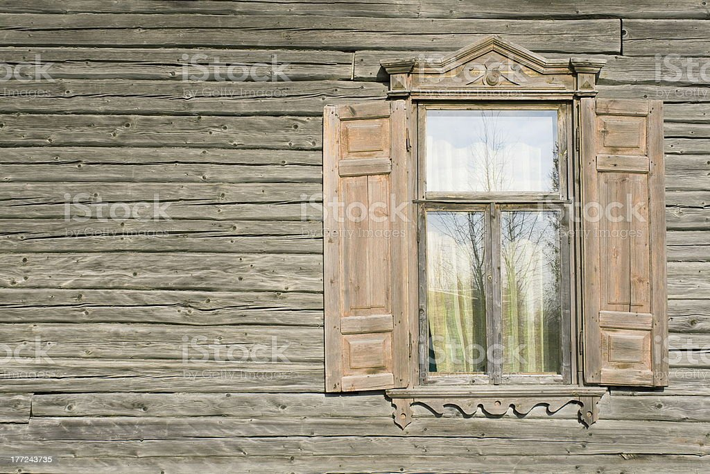 Rustic shack window. royalty-free stock photo