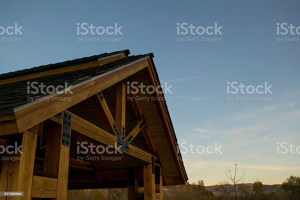 Rustic Shelter stock photo