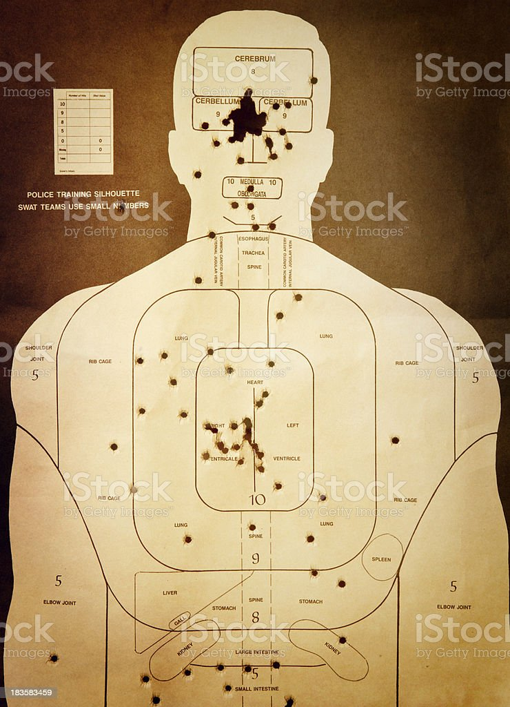 Rustic Shooting Range Target stock photo