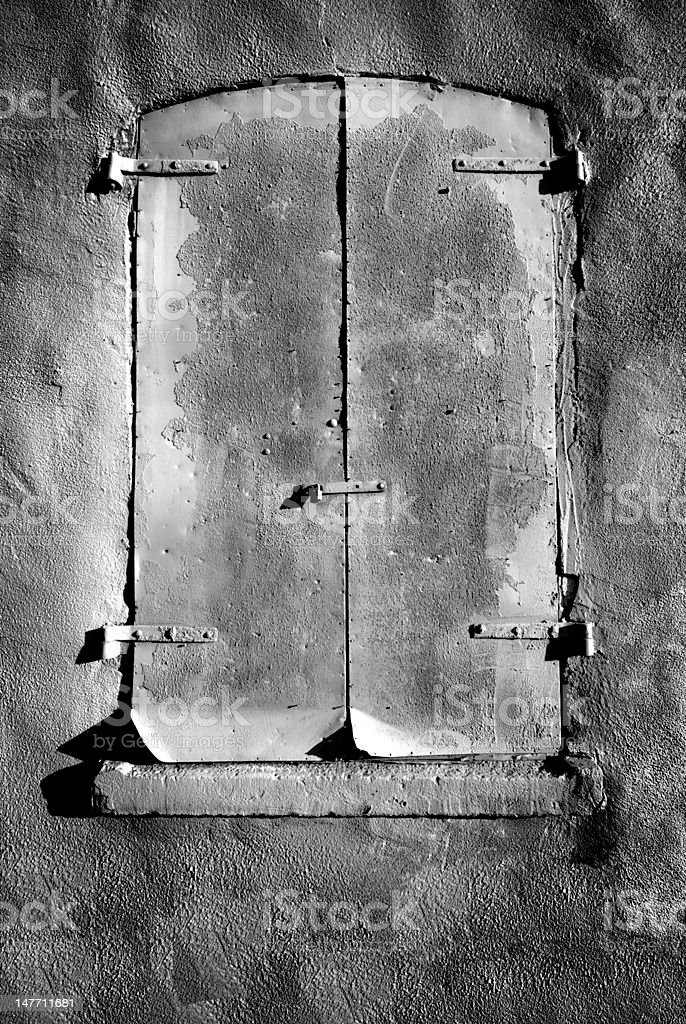 Rustic Shutters royalty-free stock photo