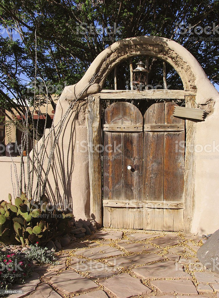 Rustic Southwestern Entry royalty-free stock photo