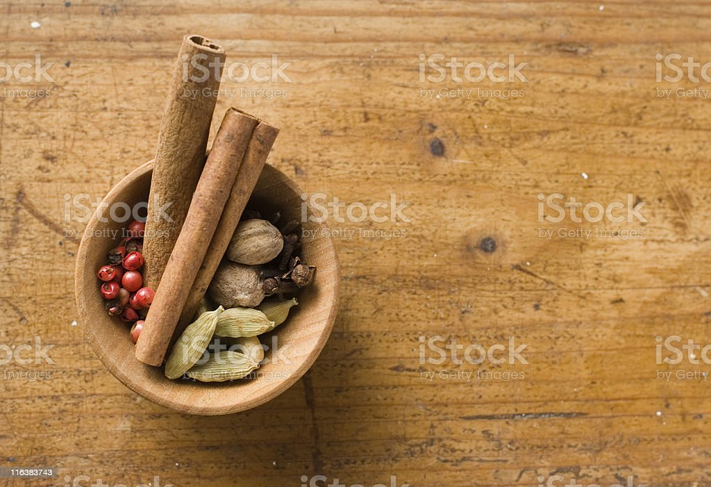 Rustic Spices royalty-free stock photo