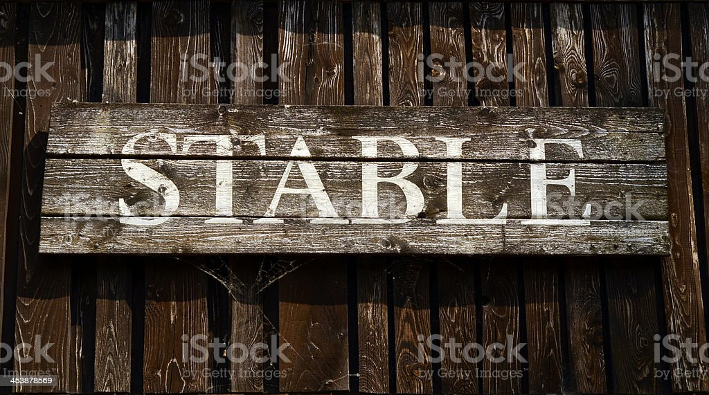 Rustic Stable Sign royalty-free stock photo