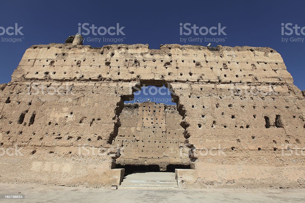 Rustic stone and mud ruins stock photo