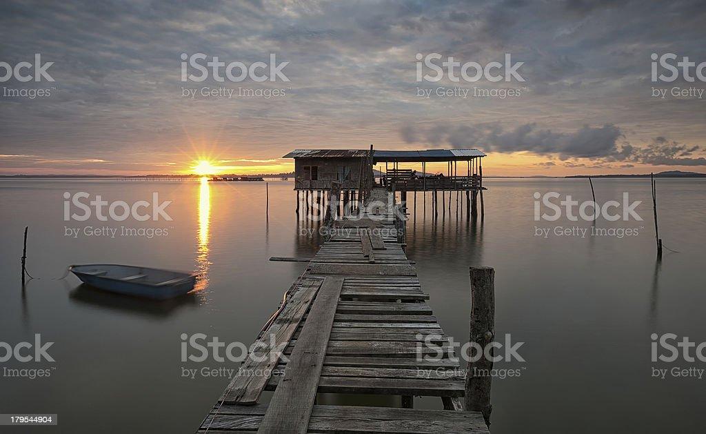 Rustic Sunrise stock photo