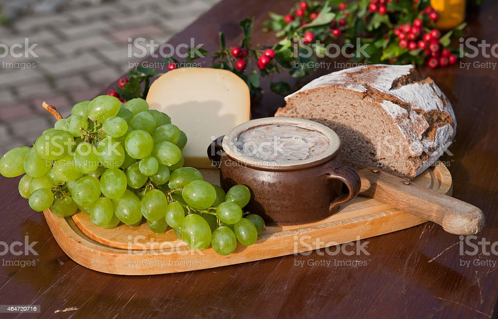 rustic tasty and hearty stock photo