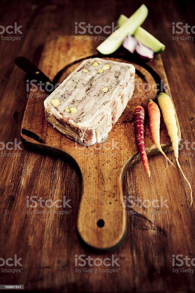Rustic terrine stock photo