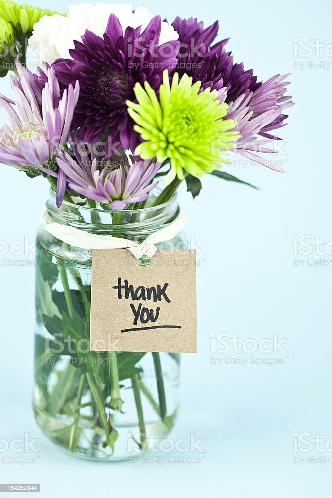 Rustic Thank You stock photo