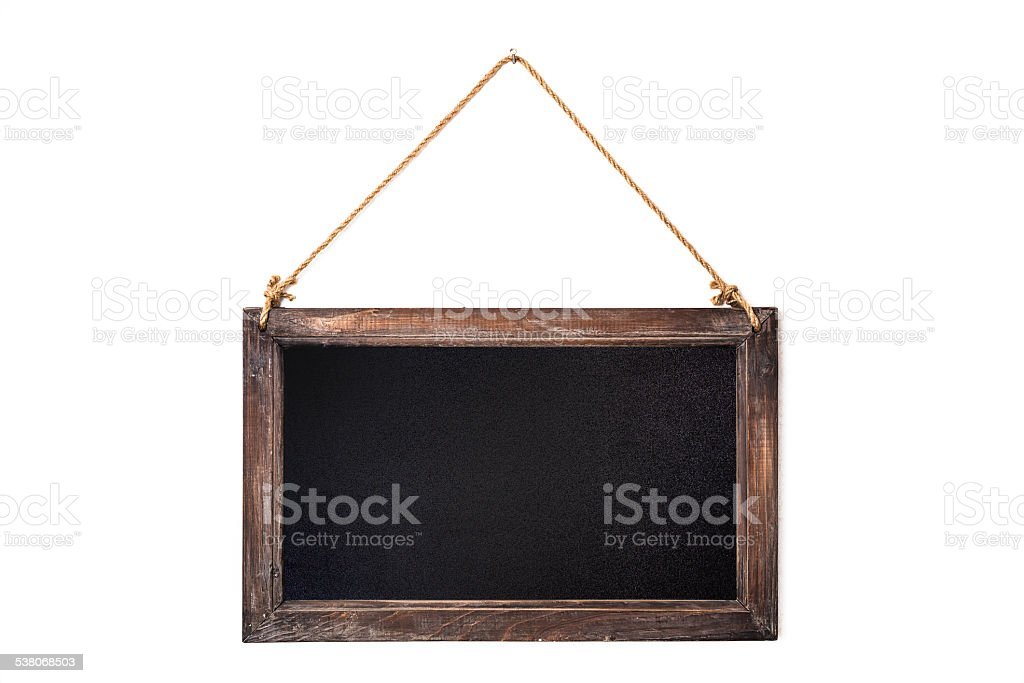 Rustic timber framed chalk blackboard with copy space -stock image stock photo