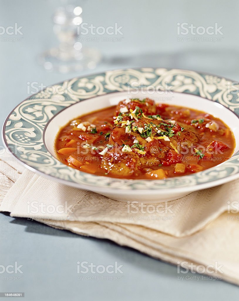 Rustic tomato soup with carrots stock photo