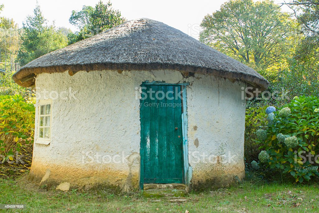 Rustic traditional rondavel stock photo