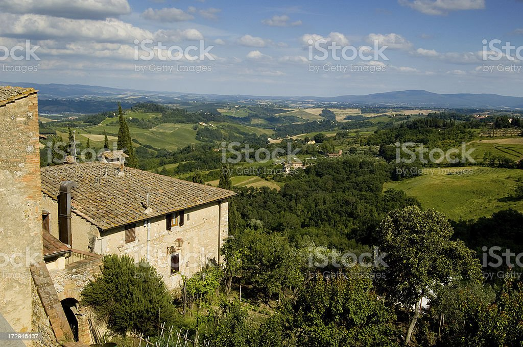 Rustic Tuscan View stock photo
