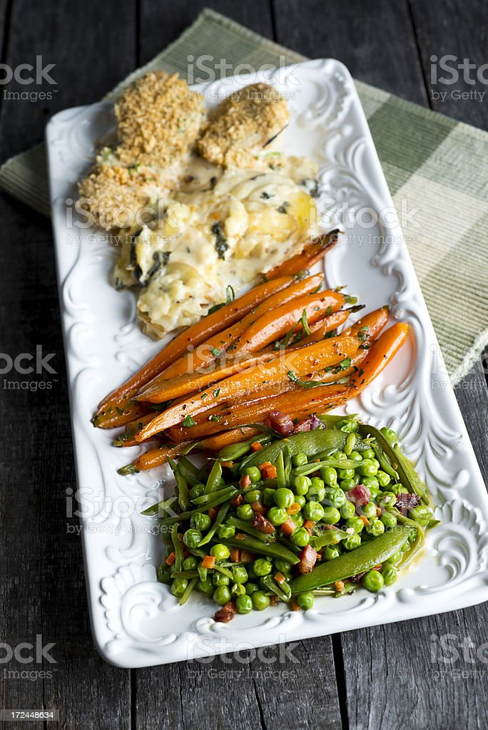 Rustic Vegetable Plate royalty-free stock photo