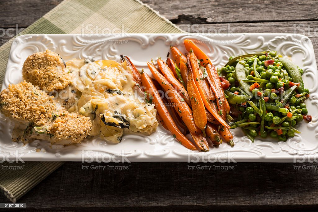Rustic Vegetable Plate stock photo