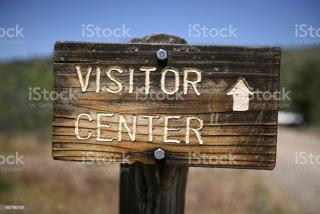 Rustic Visitor Center Sign royalty-free stock photo
