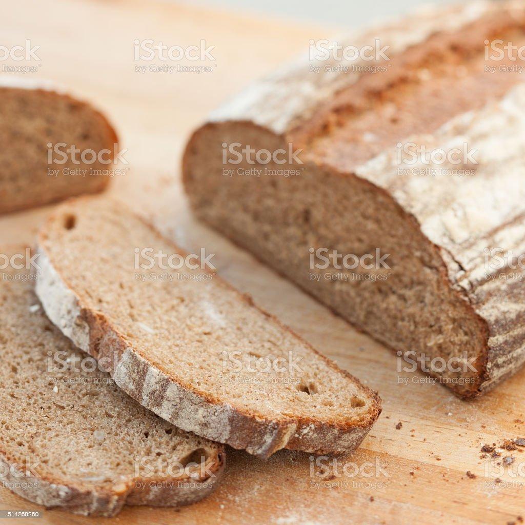 Rustic whole grain bread stock photo