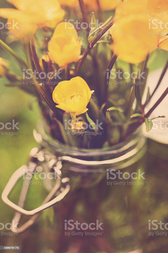 Rustic Wildflower Arrangement royalty-free stock photo