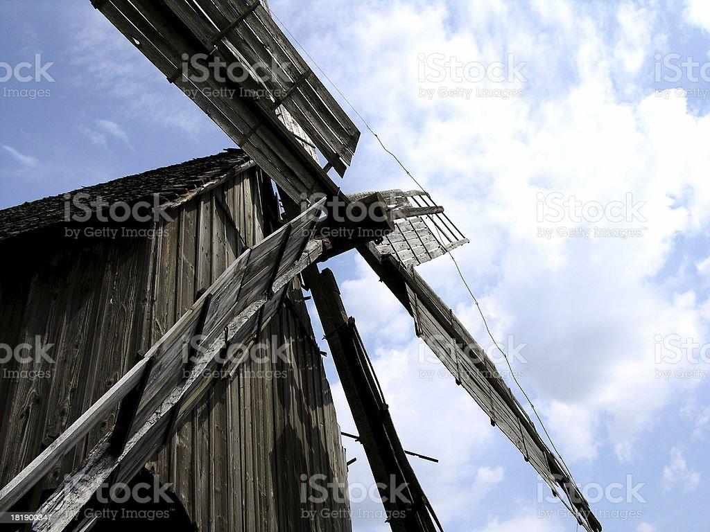Rustikale Windmühle Lizenzfreies stock-foto