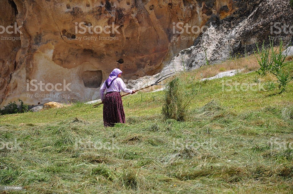 rustic woman stock photo