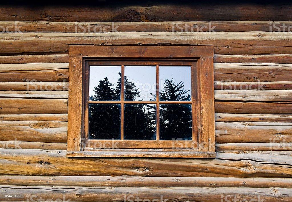 Rustic Wood Bard Window Detail royalty-free stock photo