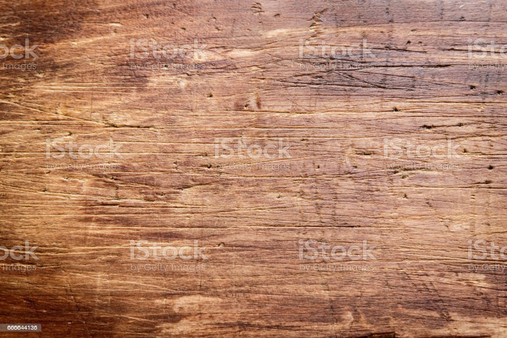 Rustic wooden cutting board stock photo
