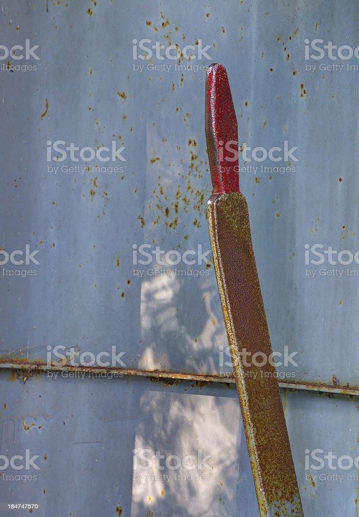 rusting arm stock photo