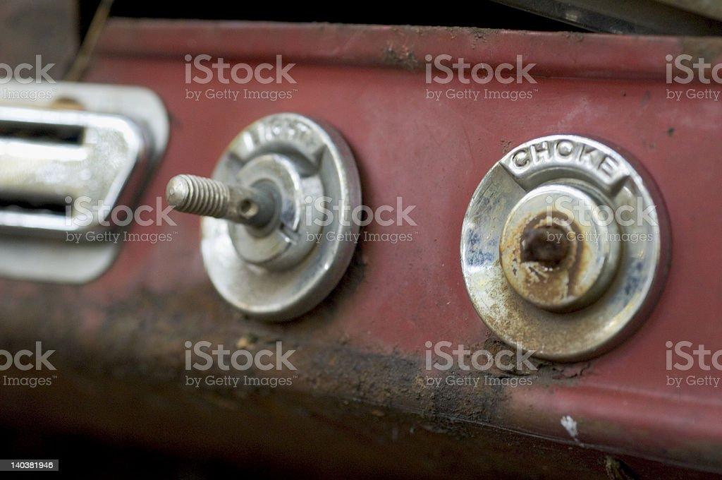 Rusting Dashboard royalty-free stock photo