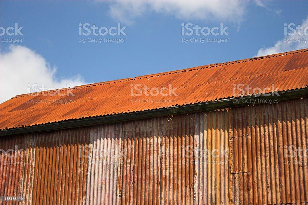 rusting irish iron barn royalty-free stock photo