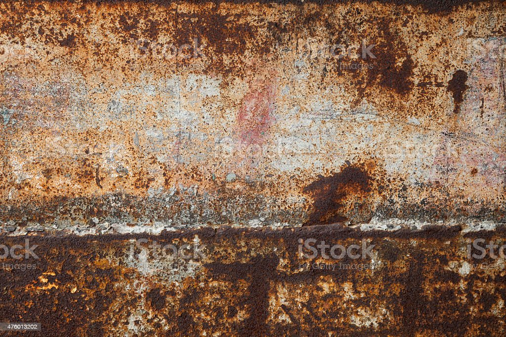 Rusting iron plate stock photo