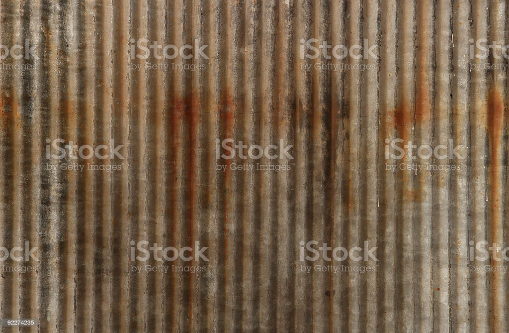 Rusting Metal Siding royalty-free stock photo