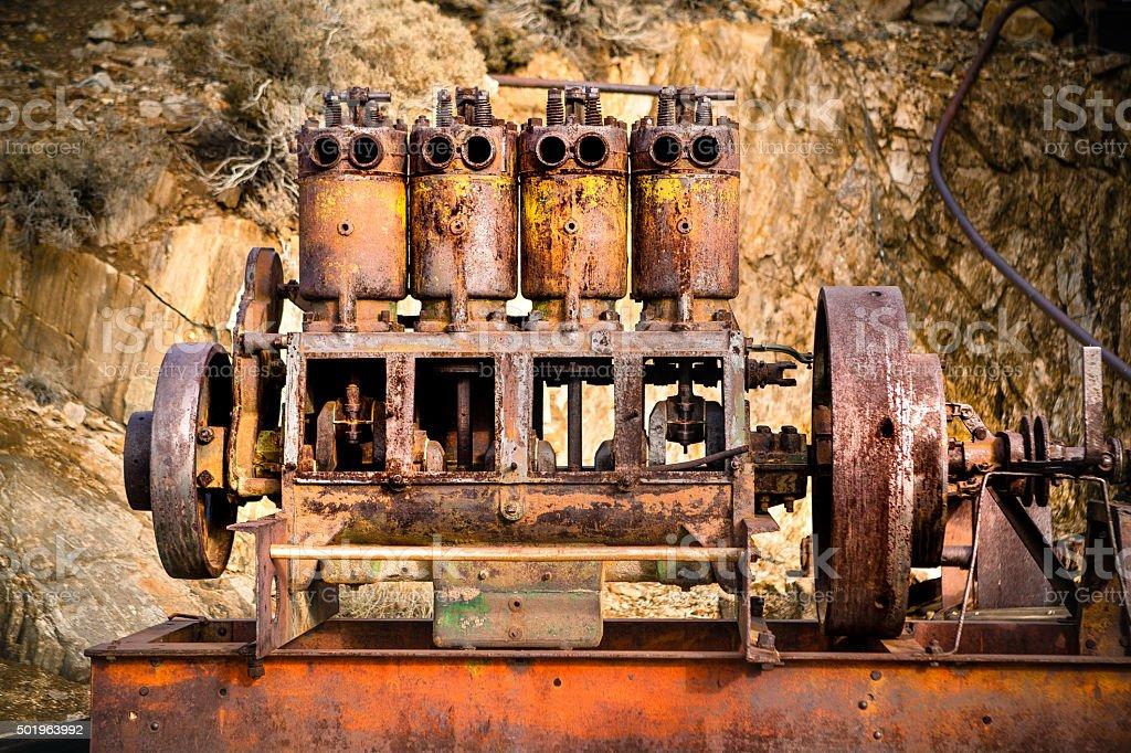 Rusting Motor, Lost Horse Mine, Joshua Tree National Park royalty-free stock photo