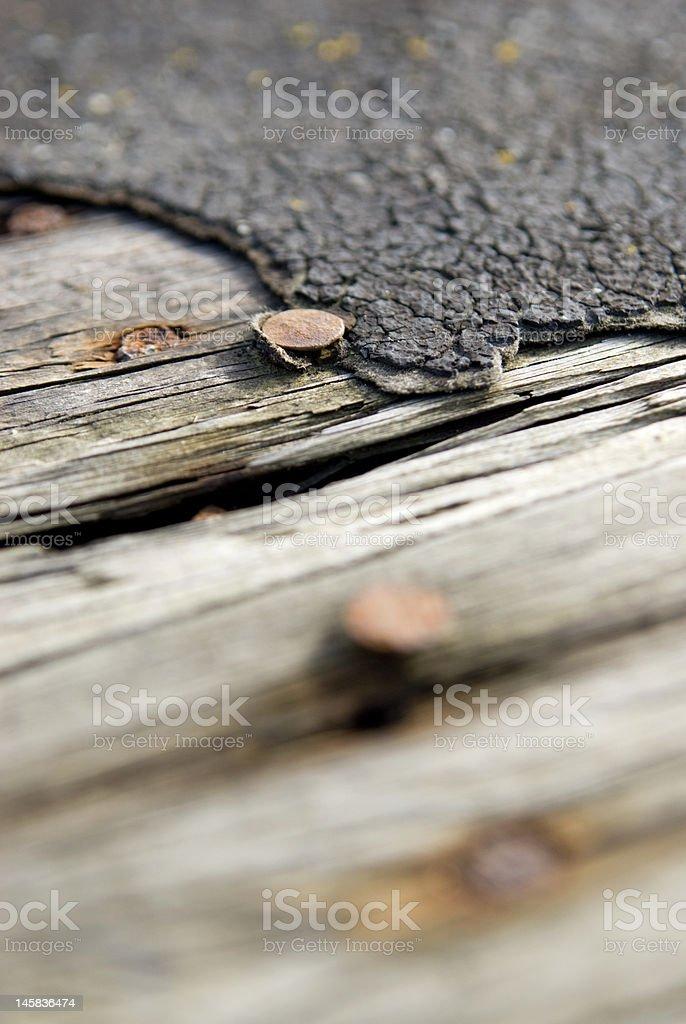 rusting nail detail royalty-free stock photo