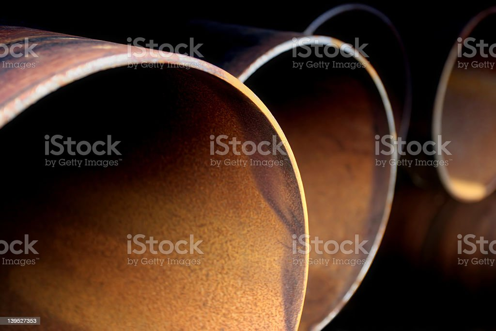 rusting pipes abstract royalty-free stock photo