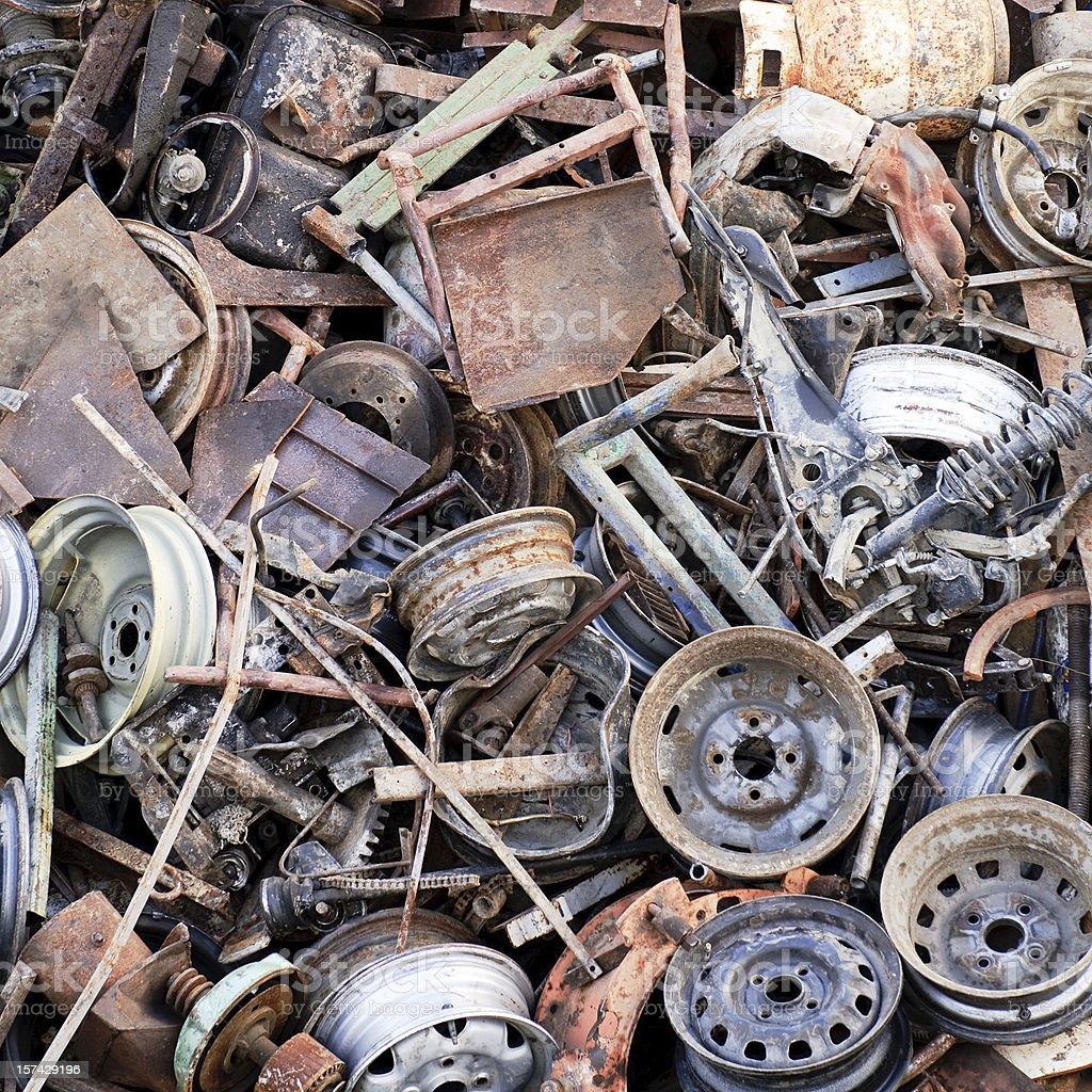 Rusting Scrap Metal Background royalty-free stock photo