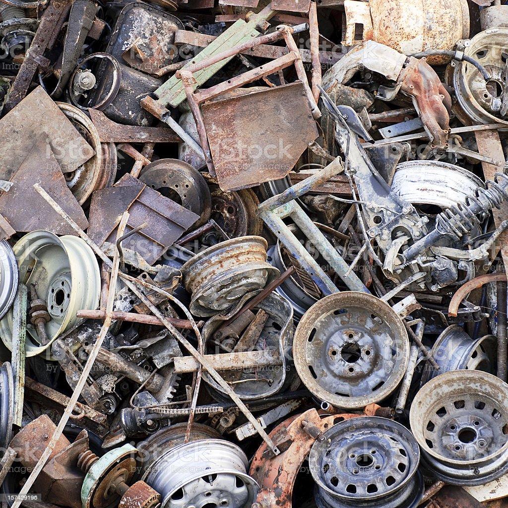Rusting Scrap Metal Background stock photo