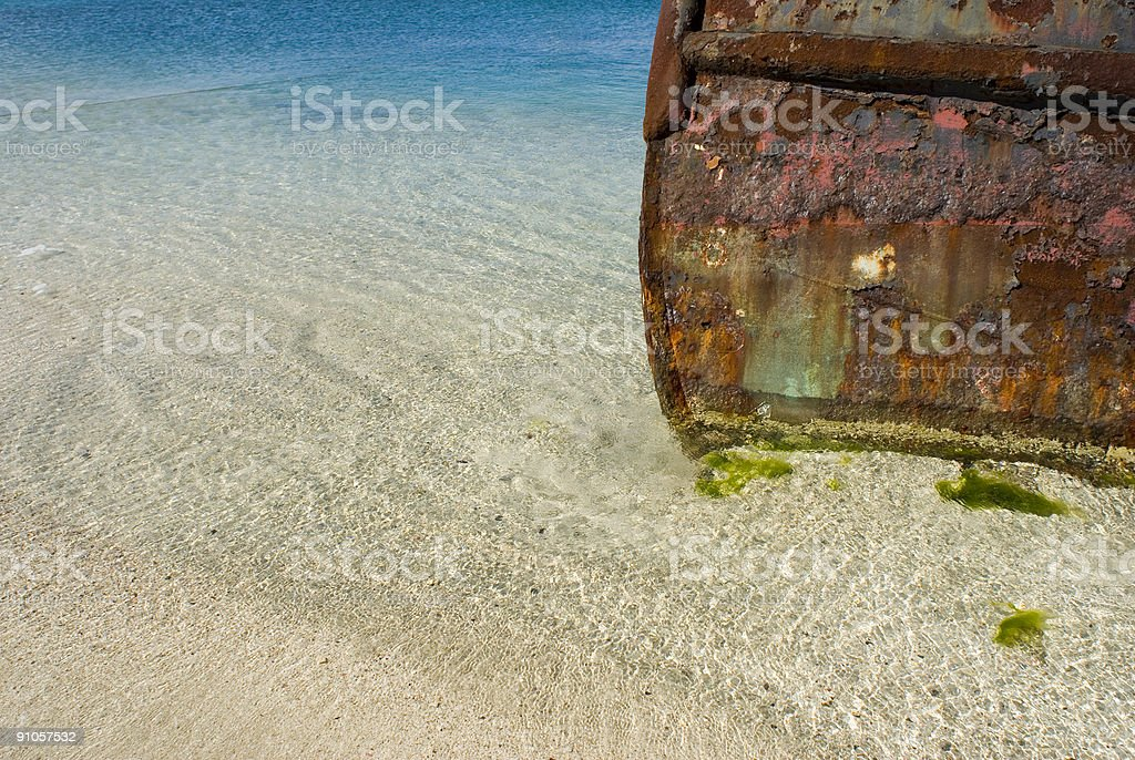 Rusting Tugboat royalty-free stock photo
