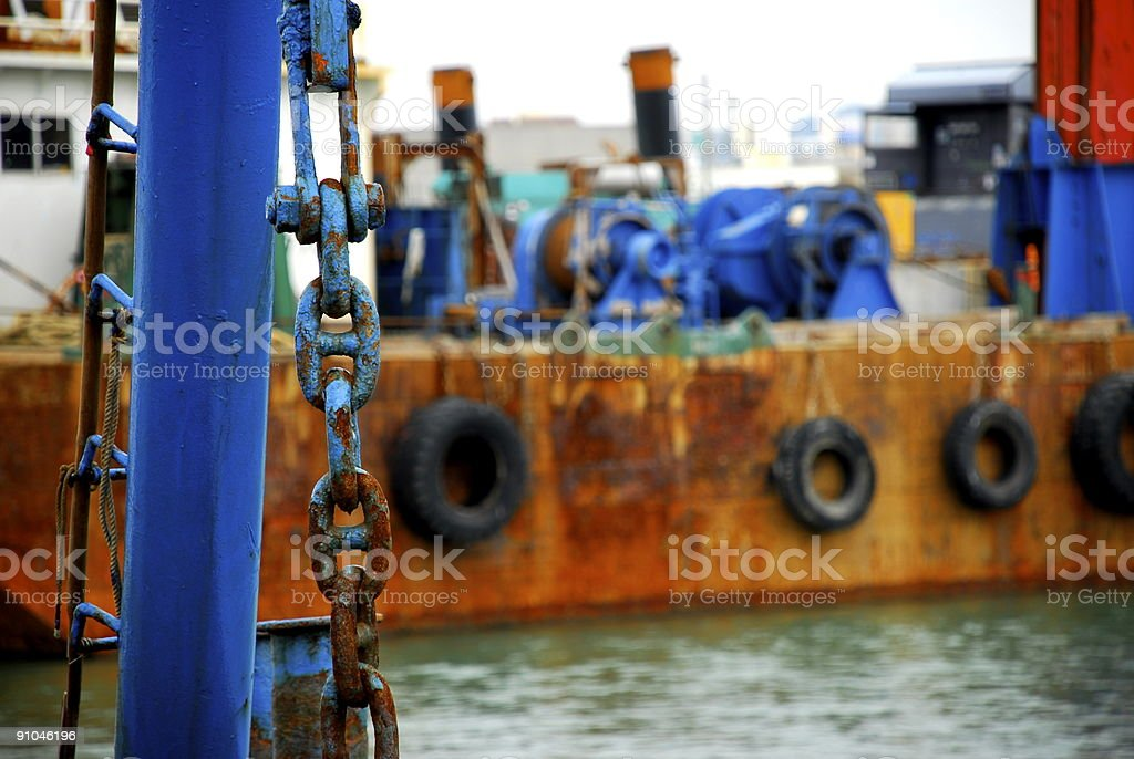Rusting Work Barge royalty-free stock photo