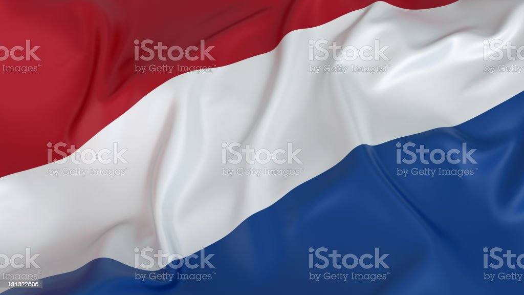 A rustled image of the Netherlands flag stock photo