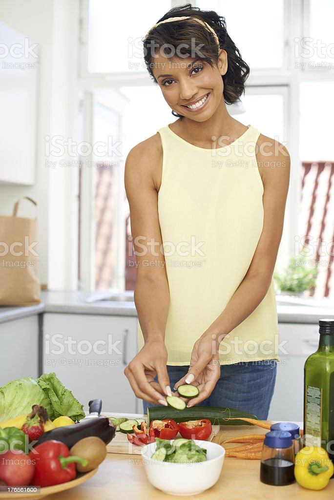 Rustling up a tasty snack royalty-free stock photo