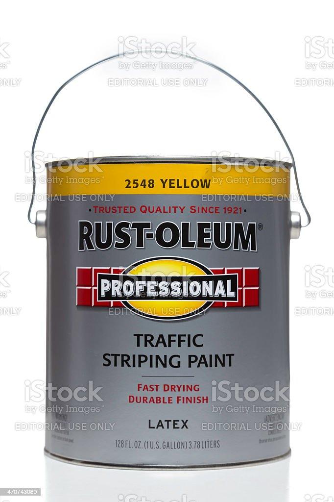 Rust-Oleum Professional Traffic Striping Latex Paint stock photo