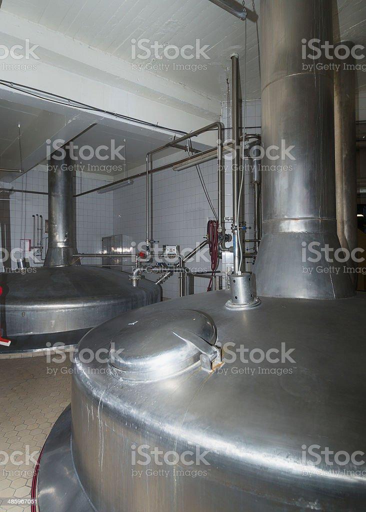 Rustproof brewing vessels. stock photo