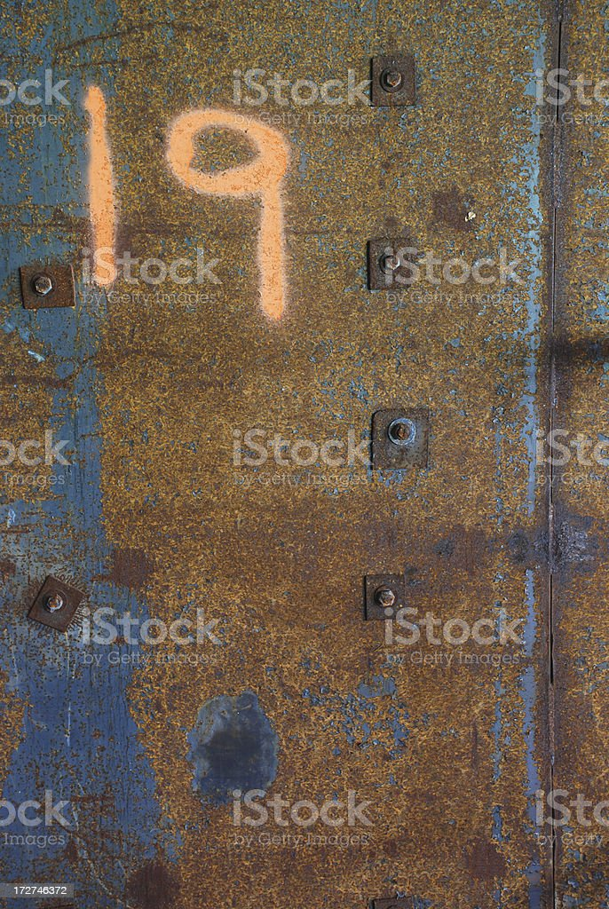 Rusty 19 royalty-free stock photo