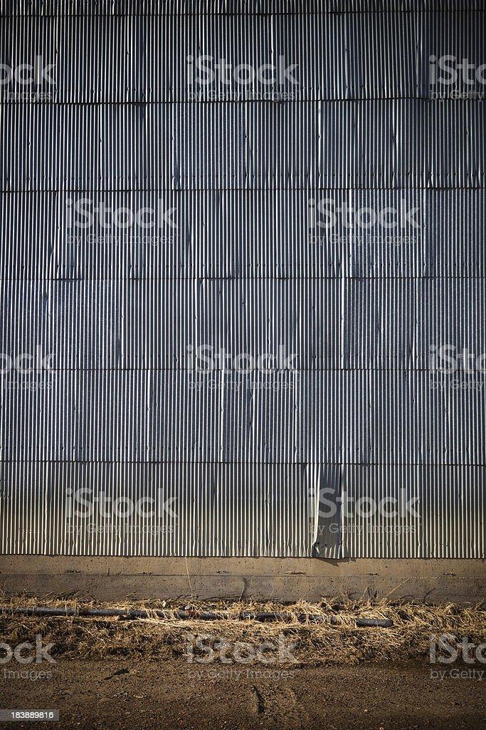 Rusty Abandoned Warehouse Wall royalty-free stock photo