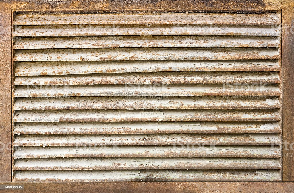 rusty air duct cover royalty-free stock photo